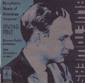 Album artwork for Symphonic Music of American Composer Irving Fine
