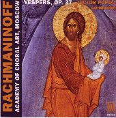 Album artwork for RACHMANINOV: VESPERS OP. 37