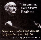 Album artwork for TOSCANINI CONDUCTS BRAHMS