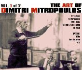 Album artwork for THE ART OF DIMITRI MITROPOULOS, VOL. 1
