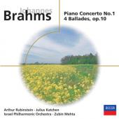 Album artwork for Brahms: Piano Concerto No. 1  (Rubinstein)