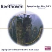 Album artwork for Beethoven: Symphonies 1 & 3 (Masur)