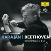 Album artwork for Beethoven: Symphonies no 5 & 6 / Karajan