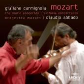 Album artwork for Mozart: The Violin Concertos / Carmignola Abbado