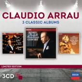 Album artwork for Claudio Arrau: 3 Classic Albums