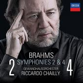 Album artwork for Brahms: Symphonies 2 & 4 / Chailly
