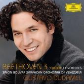 Album artwork for Beethoven: Symphony #3, Overtures / Dudamel