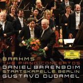 Album artwork for Brahms: The Piano Concertos / Dudamel, Barenboim