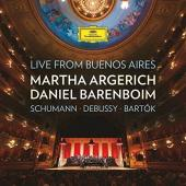 Album artwork for LIVE FROM BUENOS AIRES / Barenboim, Argerich