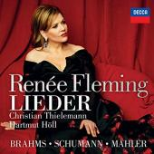 Album artwork for BRAHMS, SCHUMAN AND MAHLER / Renee Fleming