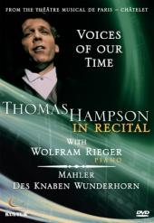 Album artwork for Voices of our time - Thomas Hampson in Recital
