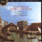 Album artwork for Five Italian Oboe Concertos / Daniel