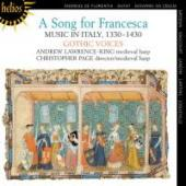 Album artwork for A Song for Francesca - Music in Italy, 1330-1430