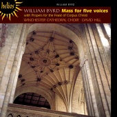 Album artwork for BYRD. Mass for five voices. Winchester Cathedral C