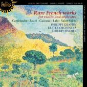 Album artwork for Rare French works for violin & orchestra