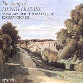 Album artwork for Duparc: Songs / Sarah Walker, Thomas Allen, Roger