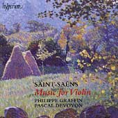 Album artwork for Saint-Saens: Music for Violin (Graffin/Devoyon)