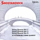 Album artwork for Shostakovich: STRING QUARTETS NOS. 11, 13, & 15