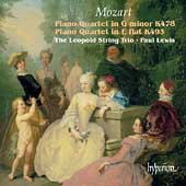 Album artwork for Mozart: Piano Quartets K478 & K493 (Lewis)