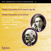 Album artwork for COLERIDGE-TAYLOR & SOMERVELL: VIOLIN CONCERTOS IN