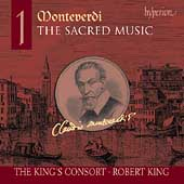 Album artwork for MONTEVERDI. Sacred Music Vol.1. King's Consort/Ki