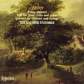Album artwork for WEBER - CLARINET QUINTET, PIANO QUARTET, TRIO