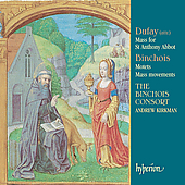 Album artwork for DUFAY MASS FOR ST ANTHONY ABBOT