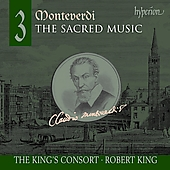 Album artwork for MONTEVERDI. Sacred Music Vol.3. King's Consort/Ki