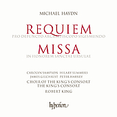 Album artwork for Michael Haydn: Requiem, Missa (King)