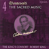 Album artwork for MONTEVERDI. Sacred Music Vol.4. King's Consort/Ki