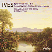 Album artwork for IVES. Symphonies 2 & 3. Dallas SO/Litton