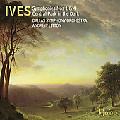 Album artwork for IVES. Symphonies 1 & 4. Dallas SO/Litton