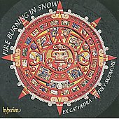 Album artwork for Fire Burning in Snow. Ex Cathedra/Skidmore