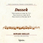 Album artwork for DUSSEK. Piano Concertos. Ulster Orchestra/Shelley