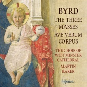 Album artwork for BYRD. The Three Masses. Westminster Cathedral Choi