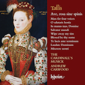 Album artwork for TALLIS. Ave rosa sine spinis. Cardinall's Musick/C