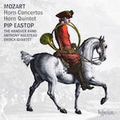 Album artwork for MOZART. Horn Concertos. Eastop/Hanover Band/Halste