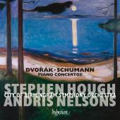 Album artwork for Dvorak & Schumann: Piano Concertos / Hough