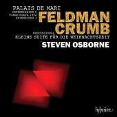 Album artwork for Feldman & Crumb piano works / Steven Osborne