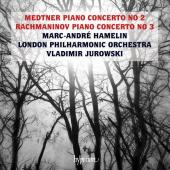 Album artwork for Medtner & Rachmaninov Piano Concertos / Hamelin