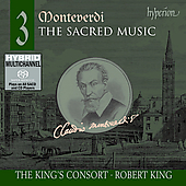 Album artwork for Monteverdi: Sacred Music, Vol. 3 (King's Consort)
