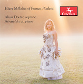 Album artwork for Mélodies of Francis Poulenc / Deeter