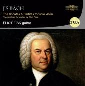 Album artwork for Bach: Sonatas & Partitas for violin (Guitar) Fisk