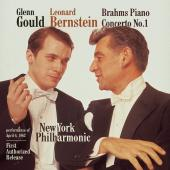 Album artwork for Brahms: Piano Concerto no 1 / Bernstein, Gould