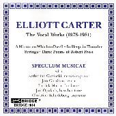 Album artwork for Carter: The Vocal Works (1975 - 1981)