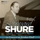 Album artwork for Leonard Shure in Concert at Jordan Hall