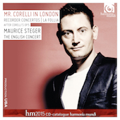 Album artwork for Mr. Corelli In London. Steger/English Concert/Cumm