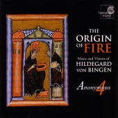Album artwork for HILDEGARD VON BINGEN. Origin of Fire. Anonymous 4
