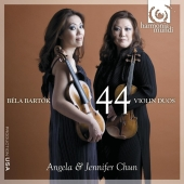 Album artwork for Bartok: 44 violin duos / Angela & Jennifer Chun