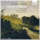 Album artwork for Mozart & Spohr: Clarinet Concertos / Jon Manasse